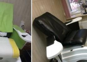 Перетяжка и ремонт педикюрных кресел Бьюьти Мебели
